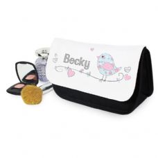 Floral Bird Make Up Bag